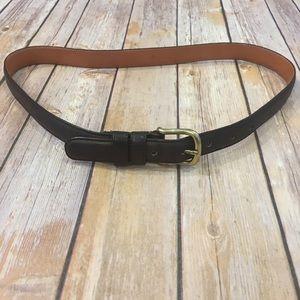 Men's Dark Brown Coach Leather Belt, Size 32